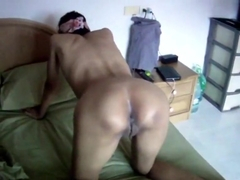 Thai Wife shows her small pussy