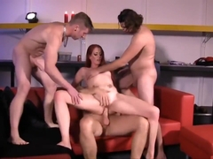 Dutch Amanda's gangbang with DP