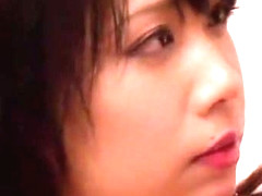 Horny Japanese slut An Shinohara in Amazing Stockings, Cunnilingus JAV movie