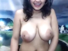 Dayana Nude Dance in front of window- Slapping Tits