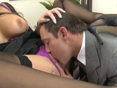 Fucking lunch in the office with hot Nika Noir!