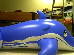 mating inflatable blue whale 3