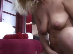 Pool Boy Fucks Mature Blonde Babe After Getting Caught Spying