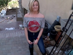 Petite Blonde with Natural Tits Gets...