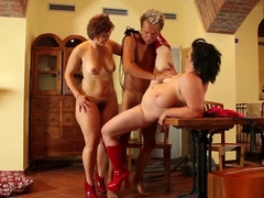 Chubby Babes Share Cock In Threeway