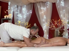 Big fake tits beauty has multiple orgasms from a pro