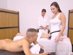 Busty Masseuse Karlee Grey Seduces Her Client