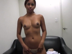 Latin casting girl Julissa James with perfect tits and butt