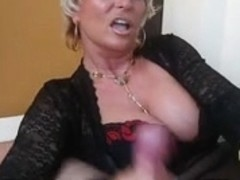 Lady Barbara face sitting and jerking off a pecker
