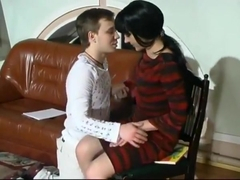 Russian Teacher Creampie