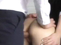 I fuck my slut Boss with an anal plug in hidden camera - LuxuryAnn