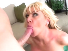 Blonde MILF Sasha eager to fuck for money