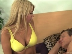 Camel Toe In Jerry S Face While Hot Blonde Strokes The Boss