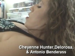 Horny pornstar Cheyenne Hunter in fabulous threesomes, dp adult video