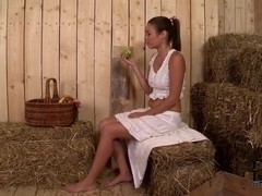 OnlyBlowjob Video: Barnyard Delight