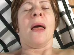 Hard nippled granny Anna works her old bawdy cleft (lengthy version)