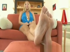 Jordan Kingsley Sexy Blonde Girl S Feet Foot Tease