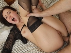 Hot chick does anal scene for the first time ever