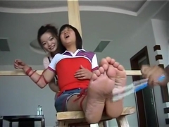 The Disobedient Cleaning Ladies' Ticklish Punishment 2/2