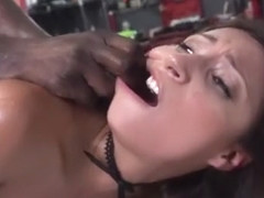 Petite College Girl Jade Jantzen Rides Black Mechanic