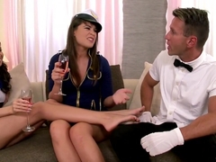 Amazing pornstars Elizabeth Rose and Savannah Secret in crazy foot fetish, hairy xxx video