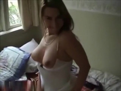 So sexy blonde girlfriend is taken on video by his lustful friend and share