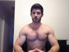 Hot hairy hunky doing a cam show.