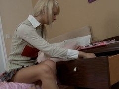 Golden-Haired schoolgirl vaginal, hard booty fuck and mouthful