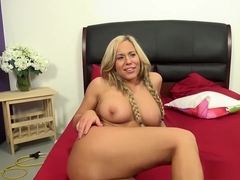 Hot babes Olivia Austin and Anna Morna eat pussy and take dick