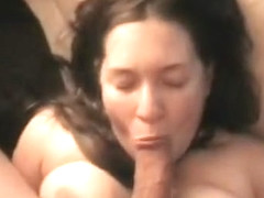 Bound curvy bruentte wife gets fucked rough in pov