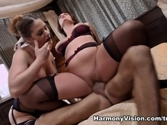 Cathy Heaven & Emma Leigh in Our Pussies Are Twitching - HarmonyVision