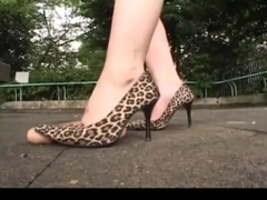 Japanese Women Abuse a Dildo with their Heels
