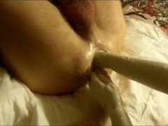 Homemade wife double fisting my ass