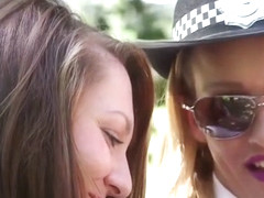 Cfnm Police Babes Jerking Cock Outdoors