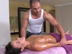 Brunette Breanne Benson relaxing in spa