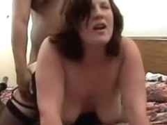 Swinging big beautiful woman housewife shared with 2 fellows