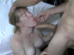 Wife sucks biggest bull during the time that hubby films