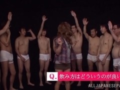 Ayumu Sena arousing hot Asian milf in wild gang action