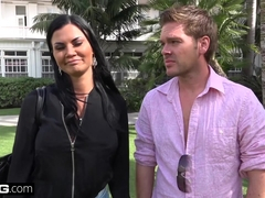 Jasmine Jae brings her young boy toy along for a POV fucking