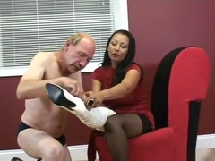 Ebony Thigh High Boots Ballbusting