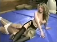 White Black Lingerie Catfight