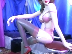 Fabulous homemade shemale scene with Stockings scenes
