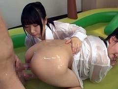 Best Japanese whores Airi Sato, Cocoa Aisu in Horny JAV censored Fingering, Small Tits video
