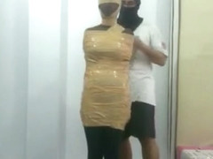 Mummified In Stockings and Tape