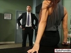 Office whore Madison Ivy cum swallows