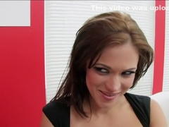 Exotic pornstars Mandy More and Eva Ryder in incredible lesbian, brunette adult clip