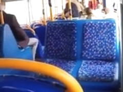 141 SHORTS FREEBALLING COCK OUT ON BUS