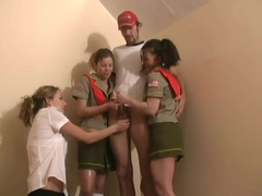 CFNM - Scouts - Merit Badge for Jerking