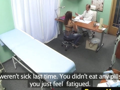 Orally pleasured patient pussyfucked by doc