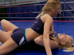 Brandy Smile & Nikky Thorne wrestle each other